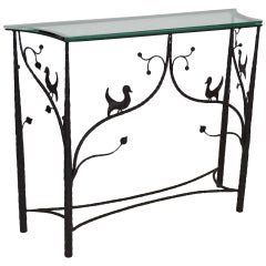 Forged Steel Console Table after Giacometti