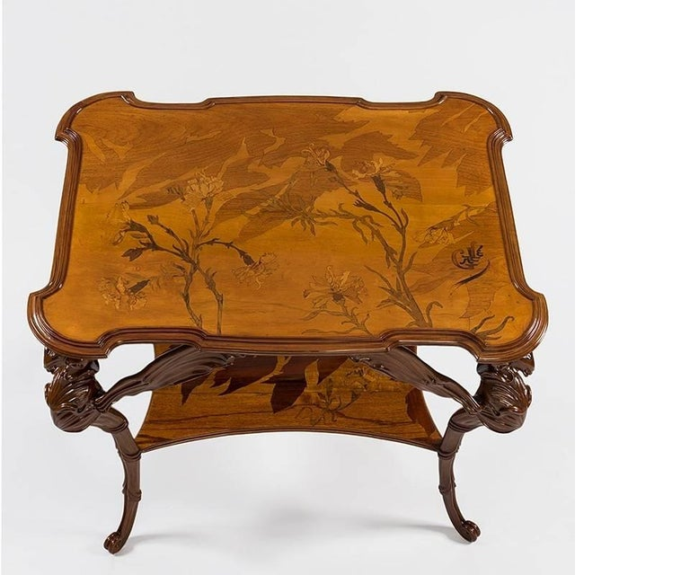 French Art Nouveau Dragonfly Table by Émile Gallé In Excellent Condition For Sale In New York, NY