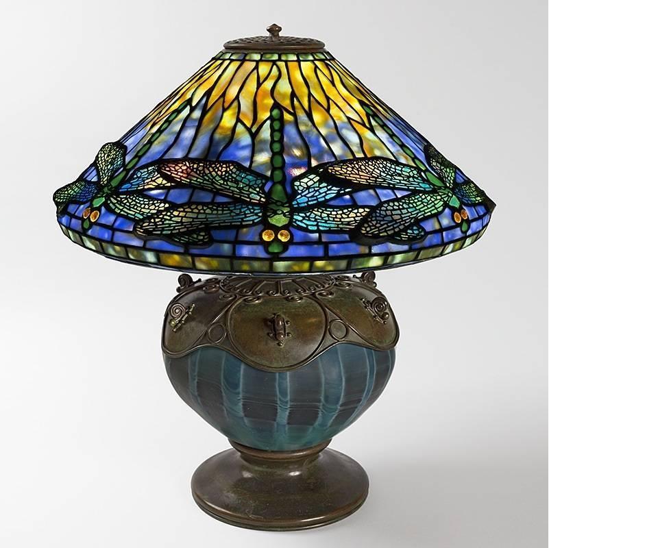 Tiffany studios dragonfly table lamp at 1stdibs aloadofball Gallery