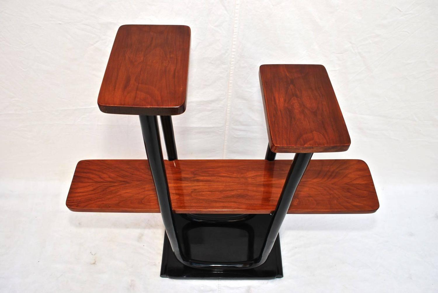 french art deco etagere shelf with rose wood for sale at 1stdibs. Black Bedroom Furniture Sets. Home Design Ideas