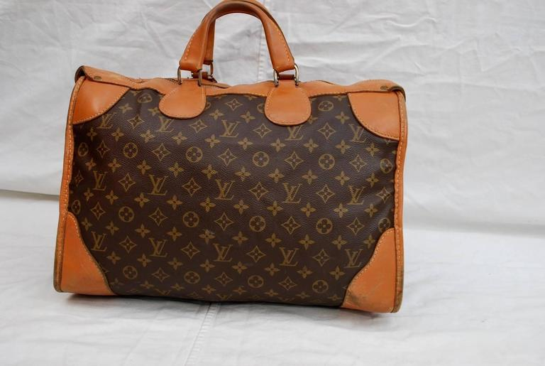 French 1960s Louis Vuitton Monogram Travel Bag Special Made For Saks Fifth Avenue