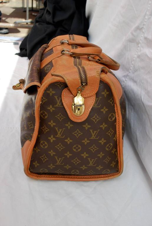 94a8f3a293d 1960s Louis Vuitton Monogram Travel Bag Special Made for Saks Fifth Avenue