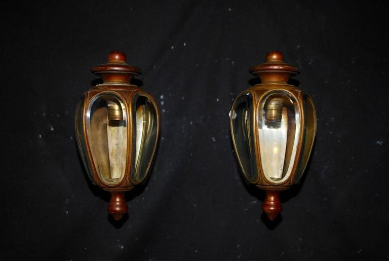 Outdoor Antique Lighting Elegant pair of 1920s brass outdoor or indoor sconces for sale at we have over three thousand antique sconces and over one thousand antique lights if you workwithnaturefo