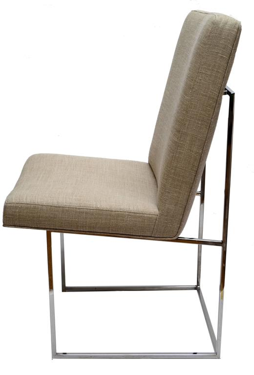 Mid-Century Modern Set of Six Milo Baughman Dining Room Chairs For Sale