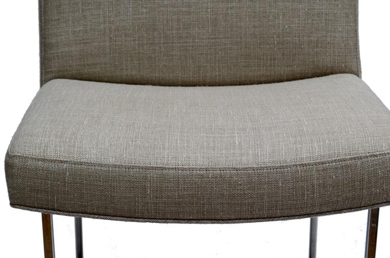 Fabric Set of Six Milo Baughman Dining Room Chairs For Sale