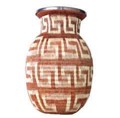 Native American Style Handwoven Vase