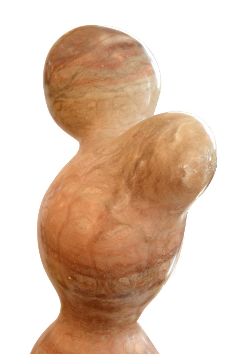 Mid-Century Modern Signed Paporter 20th Century Female Nude Marble Sculpture For Sale