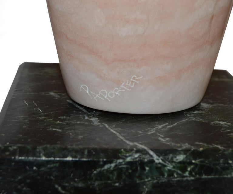 Signed Paporter 20th Century Female Nude Marble Sculpture For Sale 4