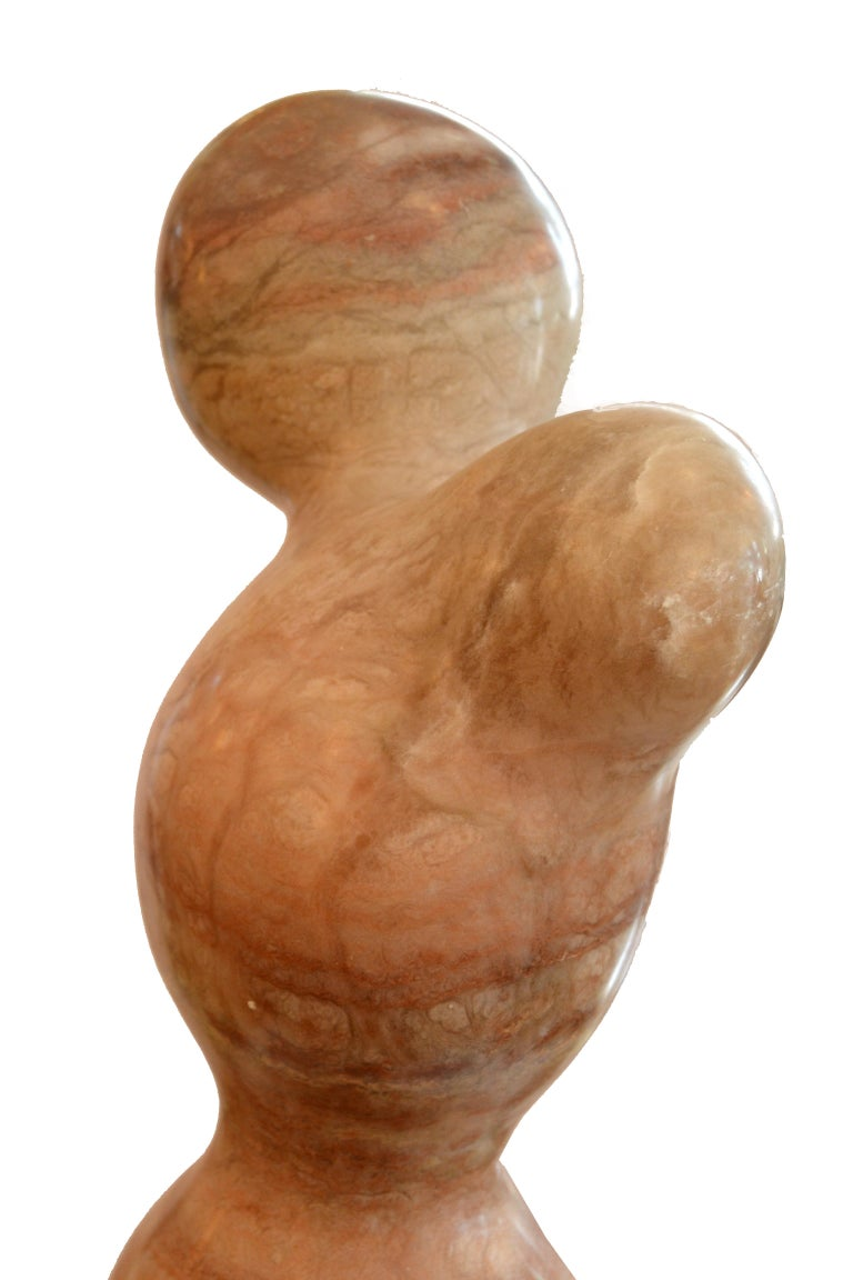 Signed Paporter 20th Century Female Nude Marble Sculpture For Sale 5