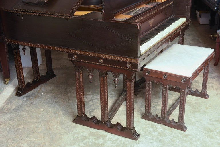 Early 20th Century J & C Fischer Grand Piano For Sale