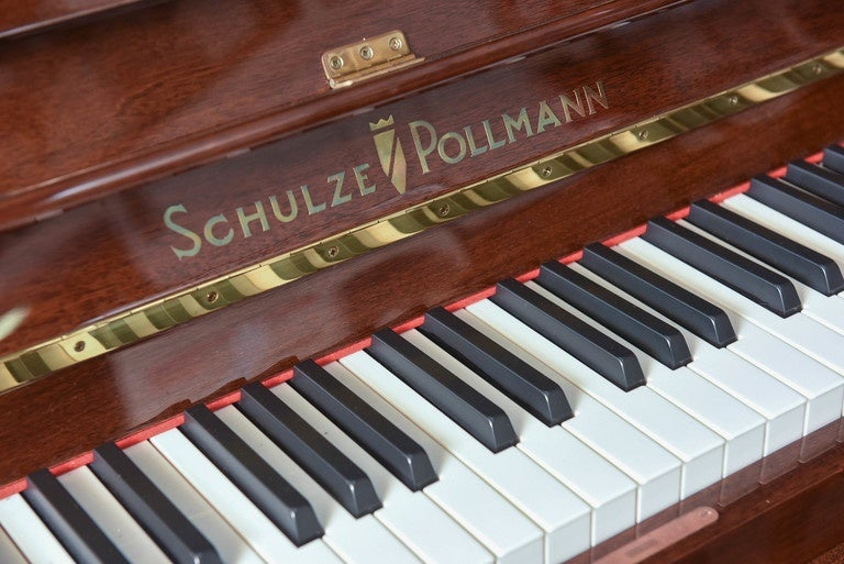 Schulze Pollman Piano with a Baby Grand Style Top 2