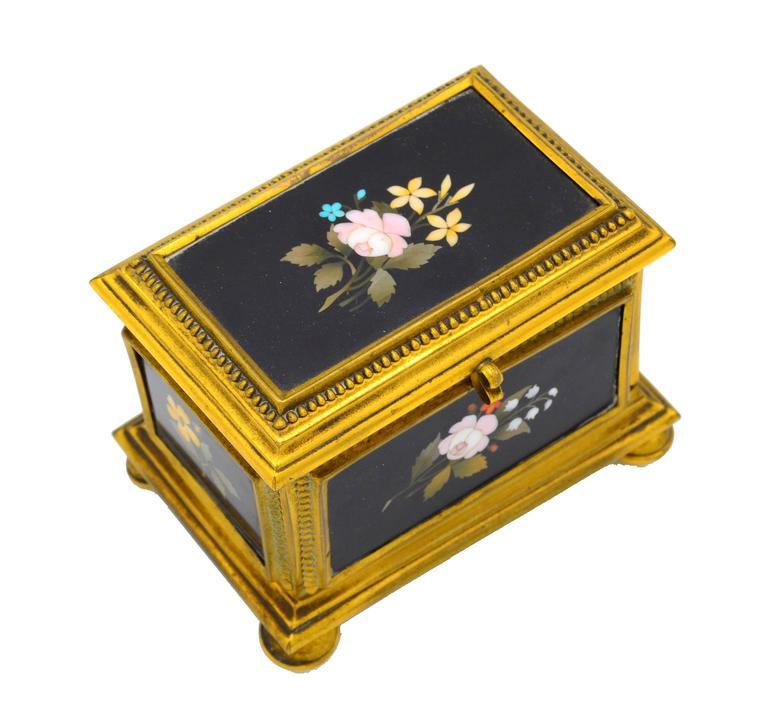 Italian Ormolu-Mounted Jewelry Casket For Sale