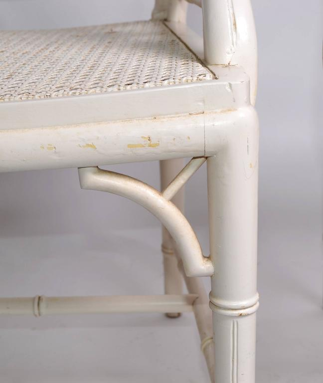 Hollywood Regency Faux Bamboo Chippendale Armchairs, Pair For Sale 1