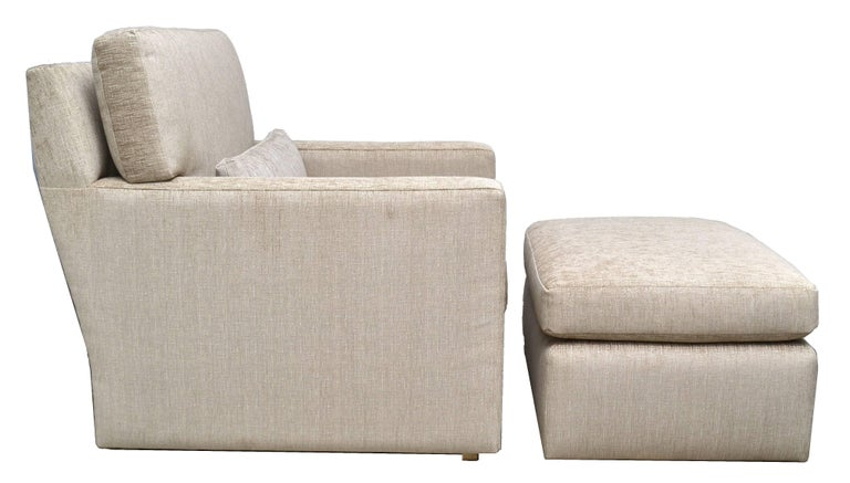 Modern Contemporary Lounge Chair with Ottoman For Sale