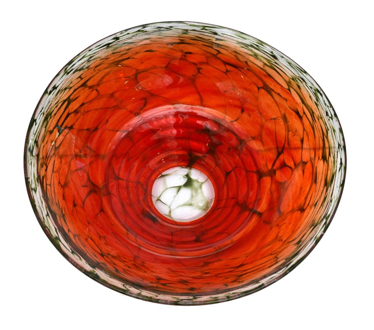 Artist S Choice From Kosta Boda Red Art Glass Bowl Signed