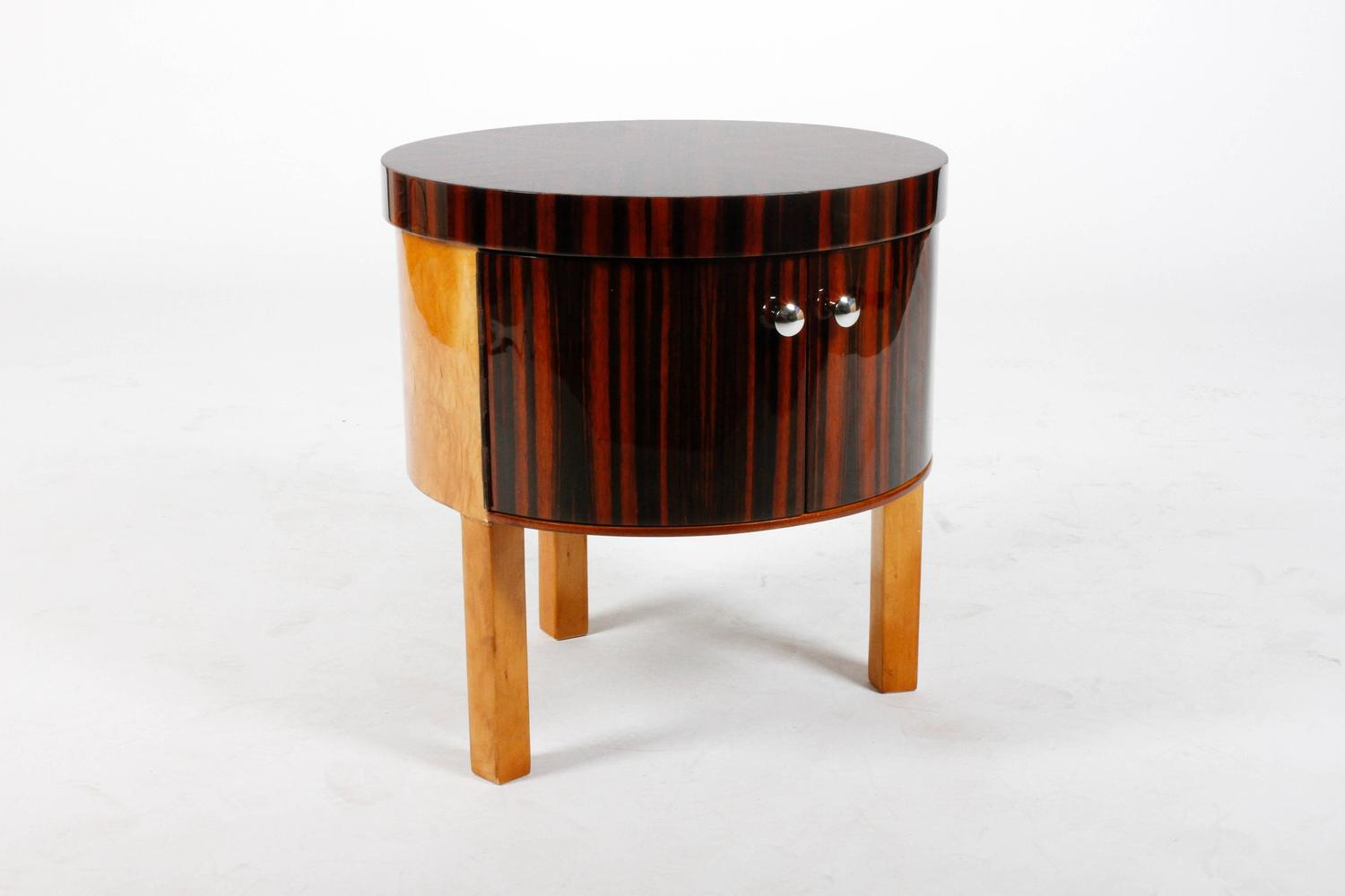 Art deco drum tables at 1stdibs for Art deco furniture chicago