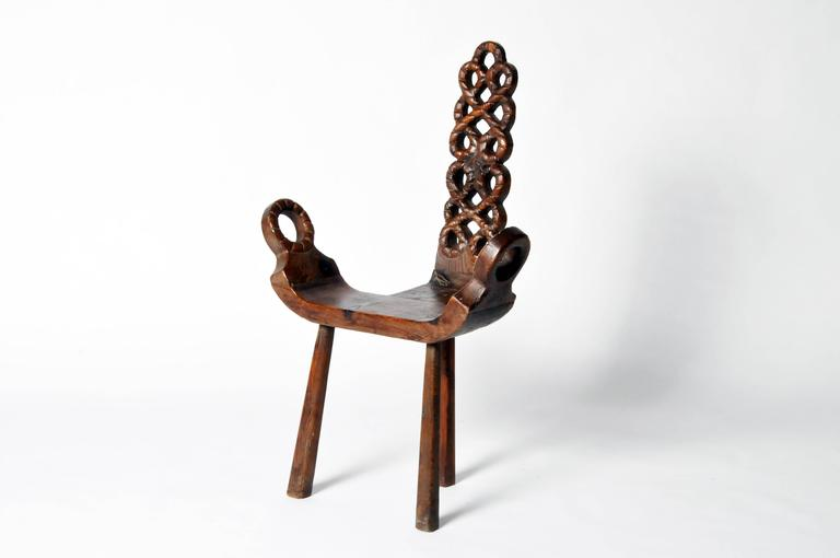 Rustic French Mountain Chair At 1stdibs
