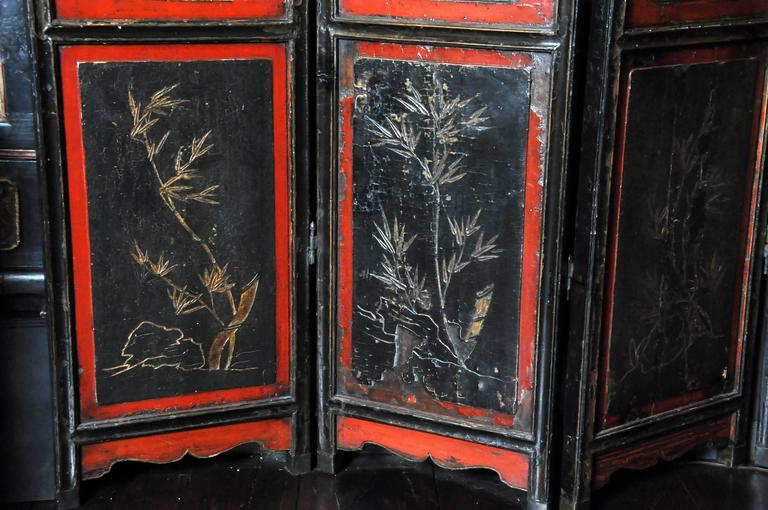 Chinese Eight-Panel Floor Screen For Sale 1