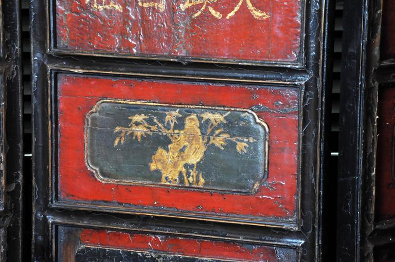 18th Century and Earlier Chinese Eight-Panel Floor Screen For Sale