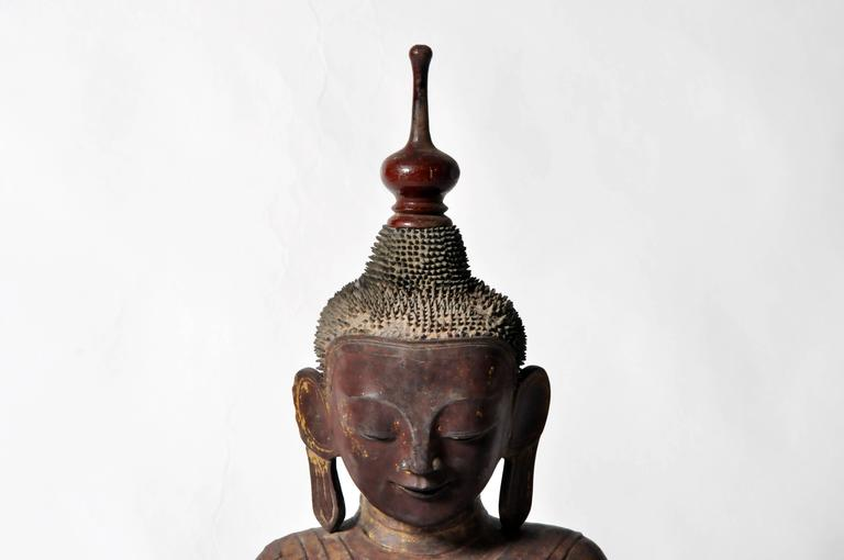 18th Century and Earlier Shan Burmese Buddha Figure For Sale