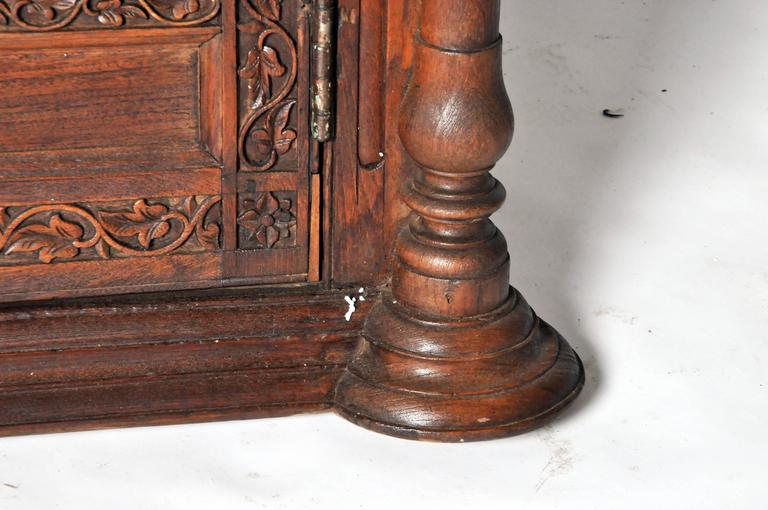 Carved British Colonial Mirror At 1stdibs