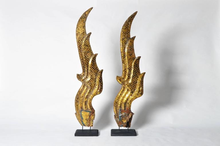 Pair Of Temple Naga Roof Ornaments At 1stdibs