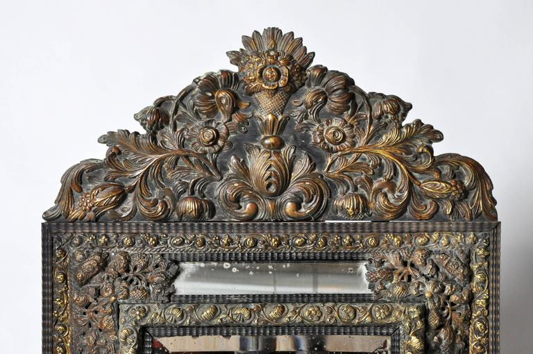 19th Century Dutch Baroque Mirror For Sale