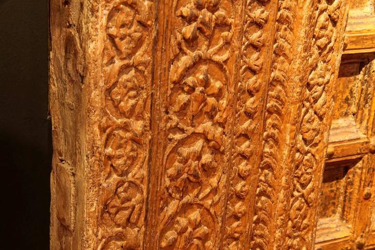 Impressive Carved Indian Entrance Door For Sale 1