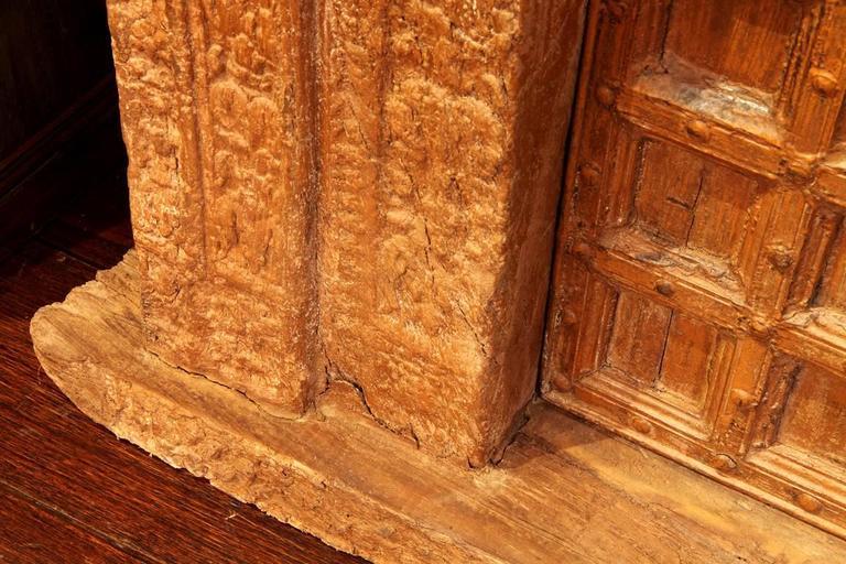 Impressive Carved Indian Entrance Door For Sale 2