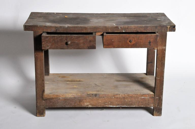 Oak French Work Table For Sale