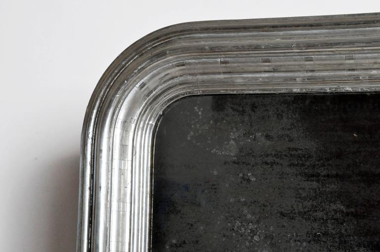 Silver Leaf Mirror with Original Glass and Silver Backing 4