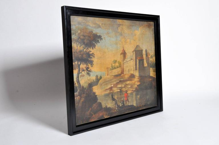 French Landscape Oil Painting on Canvas For Sale