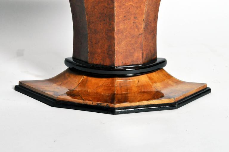 Art Deco Pedestal Console Table For Sale 4