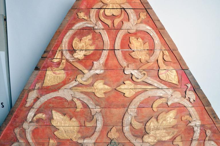 Teakwood Architectural Gable Fragment For Sale 1