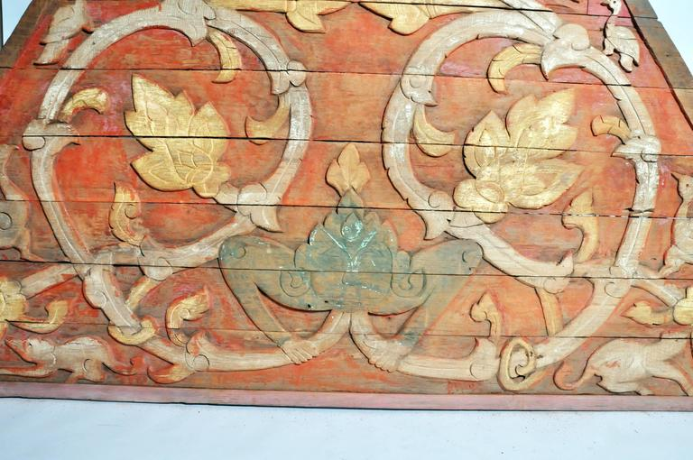 Teakwood Architectural Gable Fragment For Sale 2