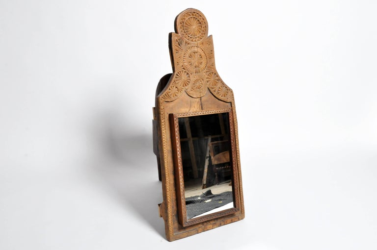 Pakistani Hand Carved Wooden Mirror For Sale At 1stdibs