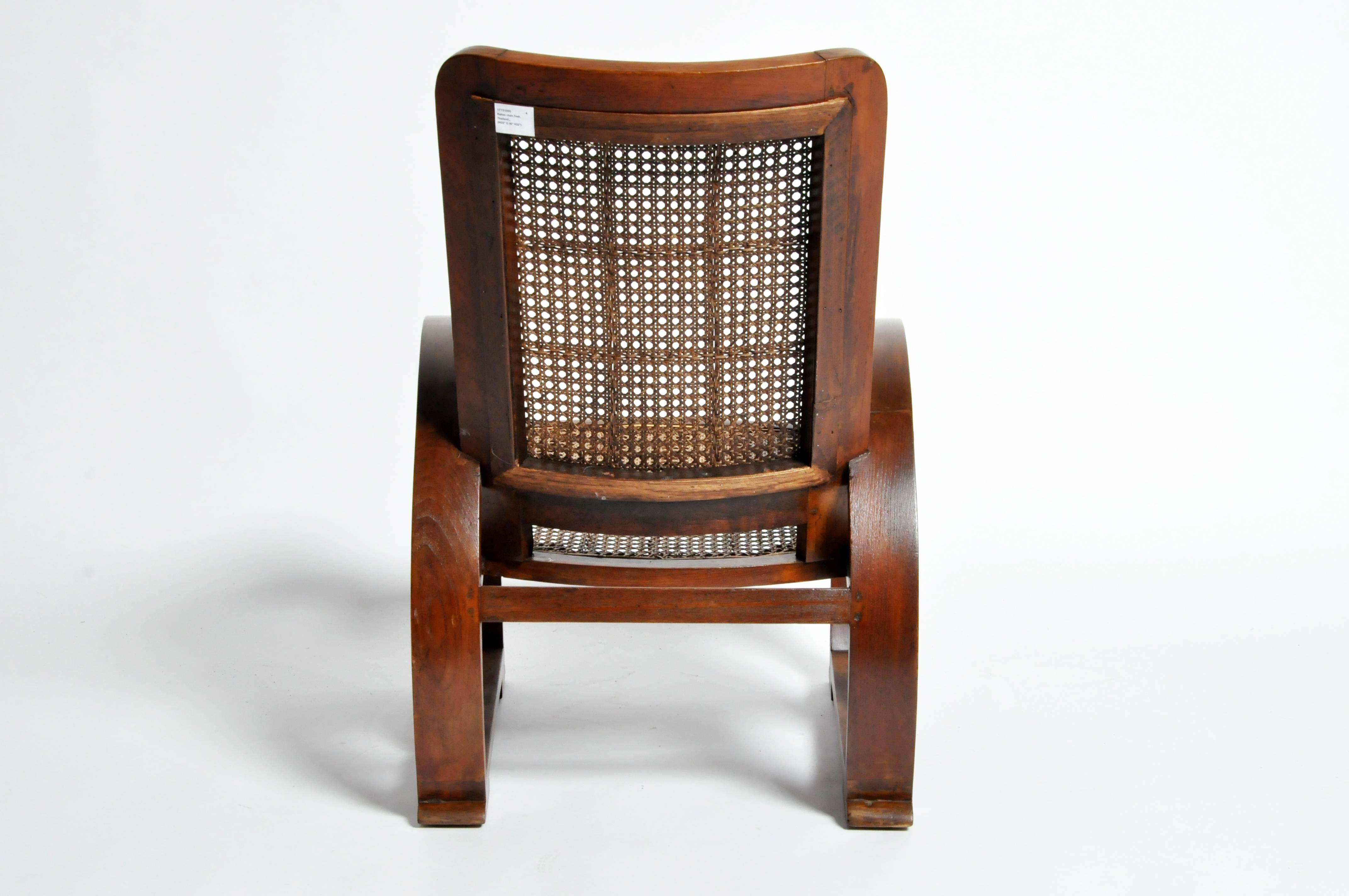 Pair Of British Colonial Art Deco Rattan Chairs For Sale 2