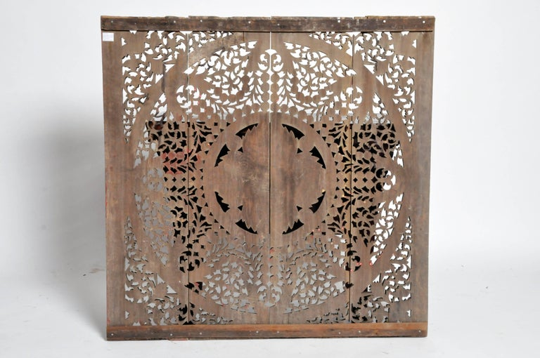 Carved Ceiling Panel with Flower Motifs 2