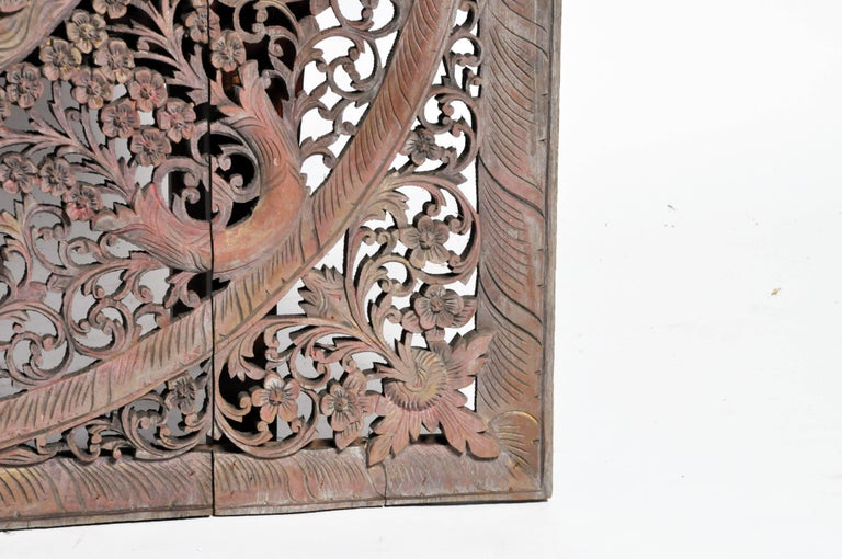 Carved Ceiling Panel with Flower Motifs 8