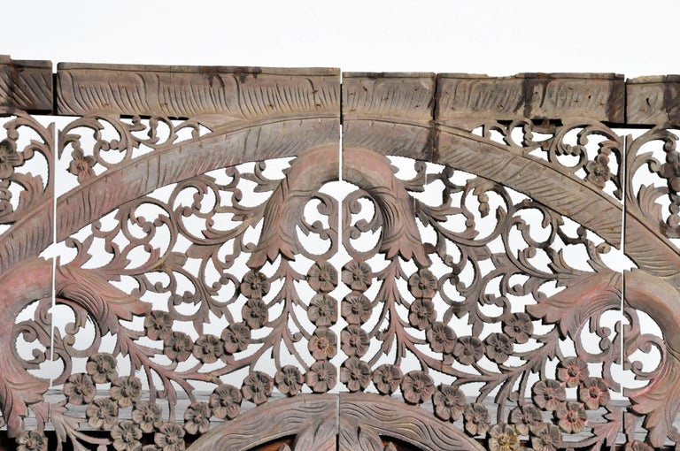 Carved Ceiling Panel with Flower Motifs 5