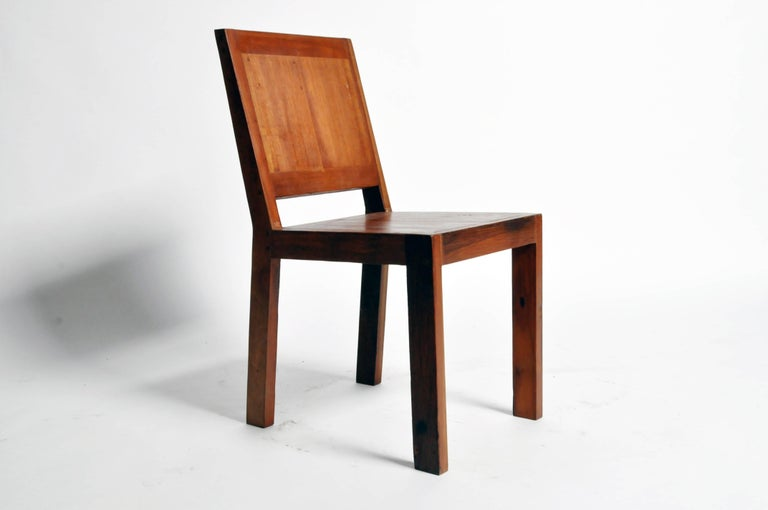 These strong and comfortable chairs are custom-made from Thailand and were made from reclaimed teak wood.