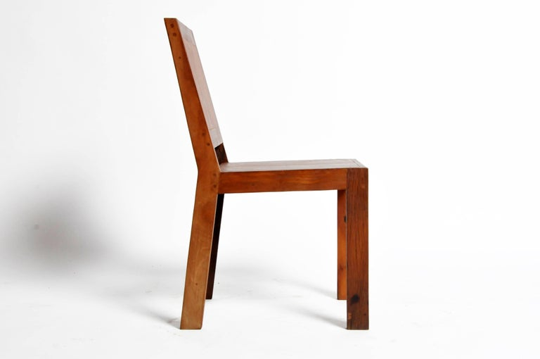 Reclaimed Teak Wood Chairs In Good Condition For Sale In Chicago, IL