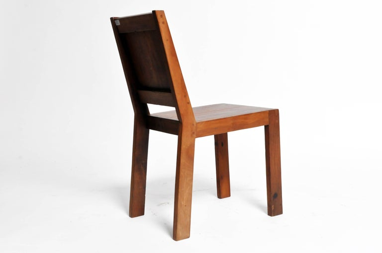 Thai Reclaimed Teak Wood Chairs For Sale