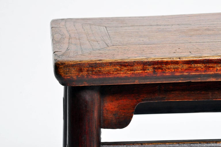 Qing Dynasty Chinese Stool with Round Legs and Original Lacquer For Sale 5