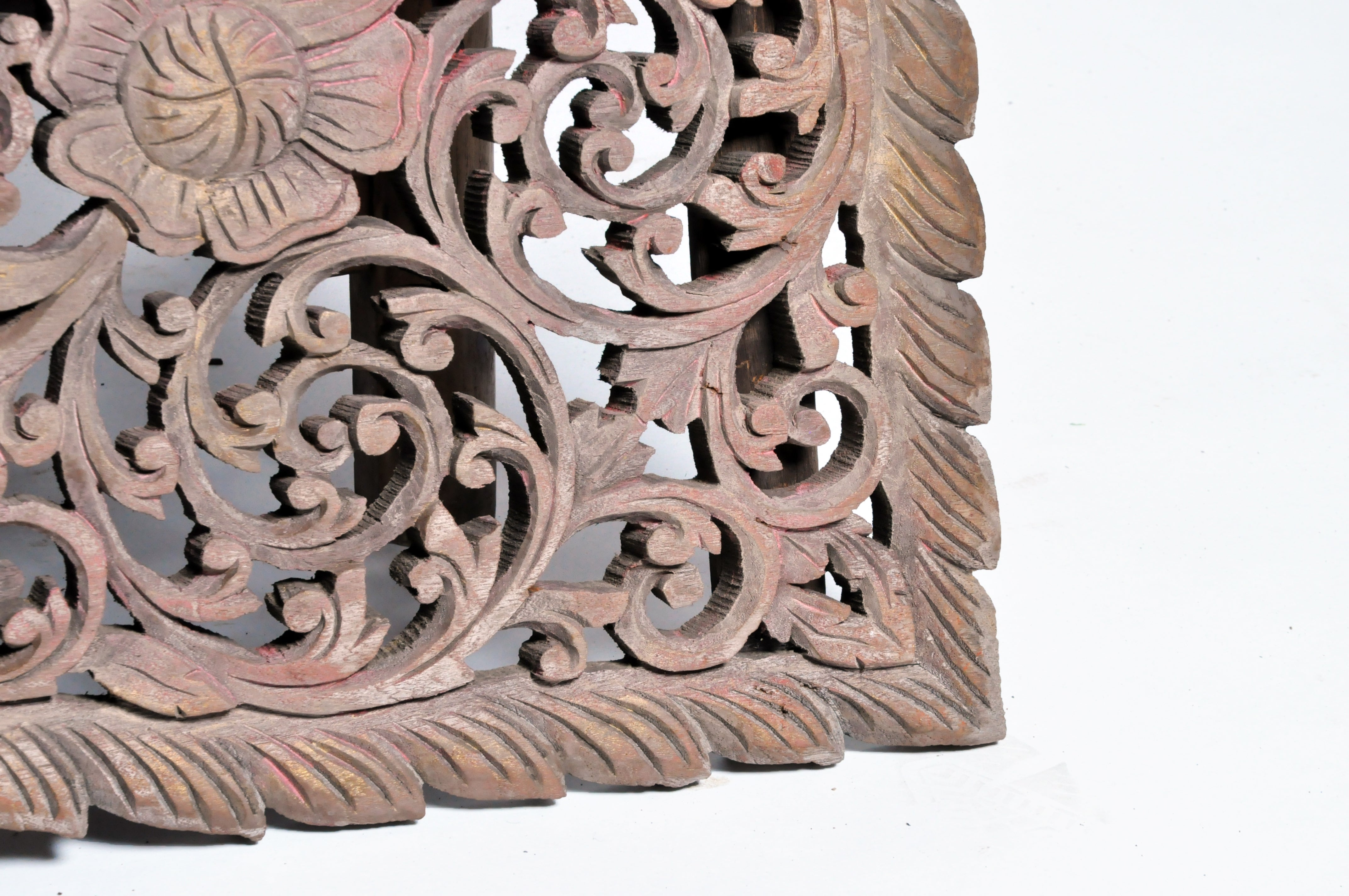 Carved wall panel with flower motifs at 1stdibs