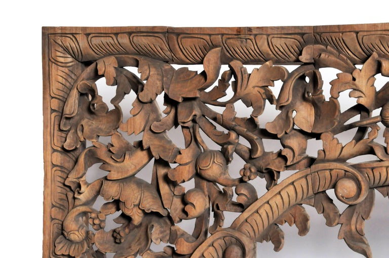 Contemporary Burmese Hand Carved Arch For Sale