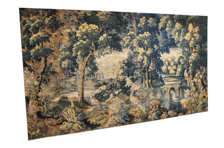 18th Century Flemish Verdure Tapestry For Sale 3