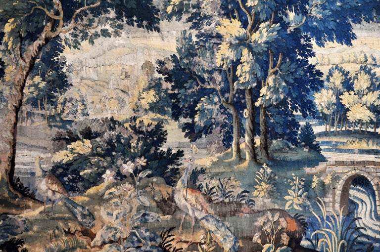 18th Century Flemish Verdure Tapestry For Sale 1