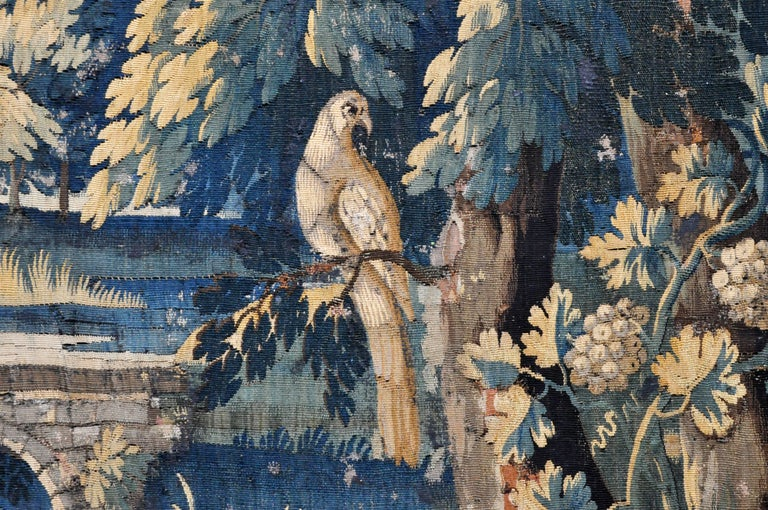 Fabric 18th Century Flemish Verdure Tapestry For Sale