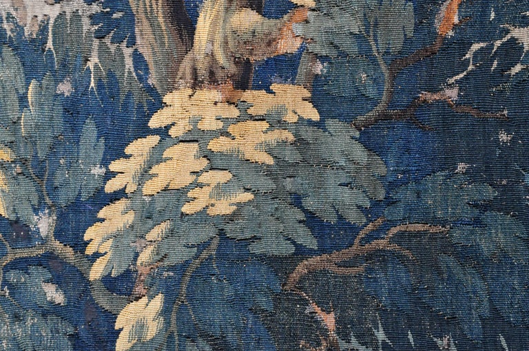 18th Century and Earlier 18th Century Flemish Verdure Tapestry For Sale